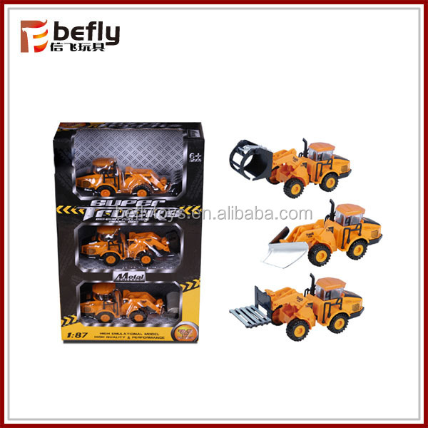 Alloy engineering toy vehicle sets