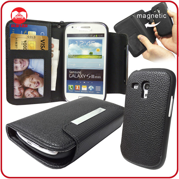 RF 2 in 1 Wallet Leather With Detachable Hard Funny Case for Samsung Galaxy S3 Mini