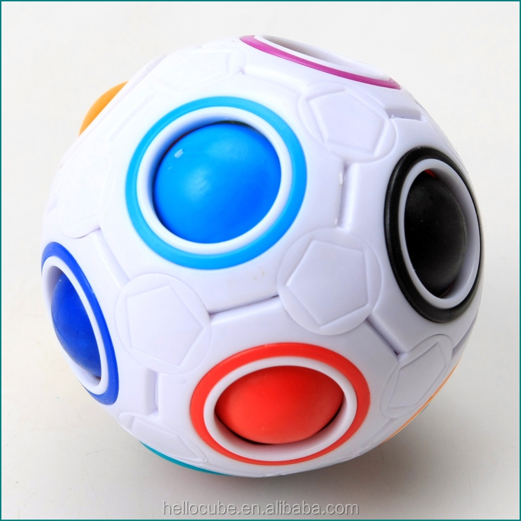 Hot sale New Yongjun YJ magic rainbow ball 80mm Colourful magical Cube Puzzle Ball Euducational Toys yj moyu