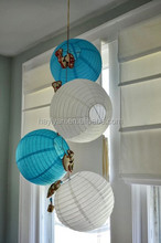 Home decoration use paper lantern lights hanging paper lampshade use