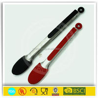 2015 hoting selling Silicone Food Tong Kitchen Tongs and Stainless Steel Silicone Utensil (7,9,12 inch)