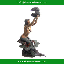 2015 hot sale mordern home decor bronze danish little mermaid
