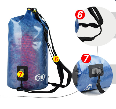 IPX6 Outdoor sport waterproof Hiking shoulder dry bag Camping Type floating swimming dry bag