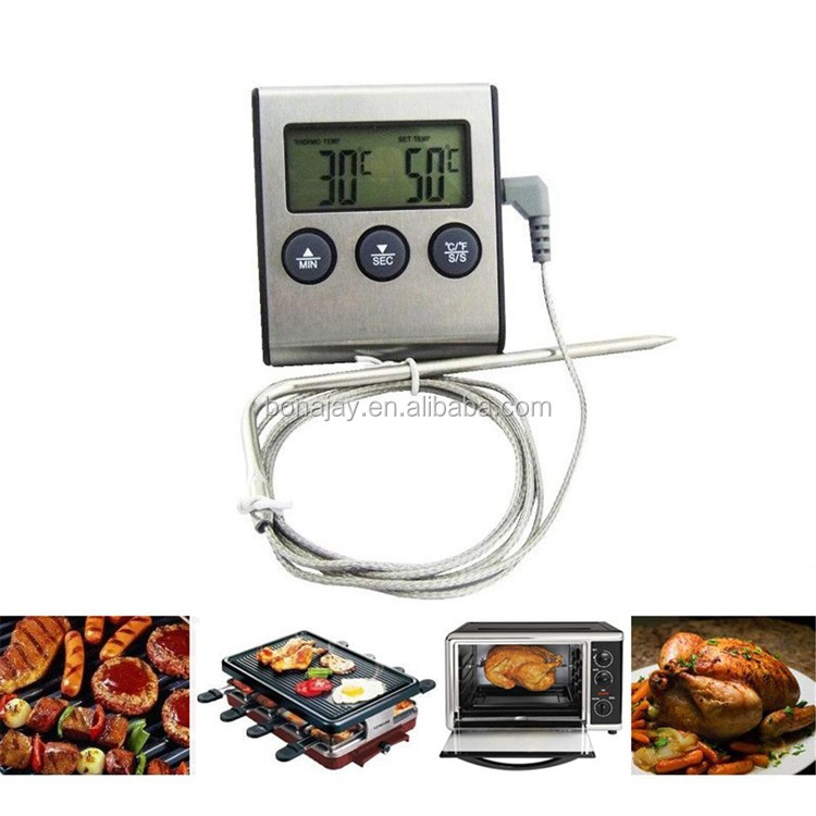 Digital BBQ Grill Food Probe Thermometer