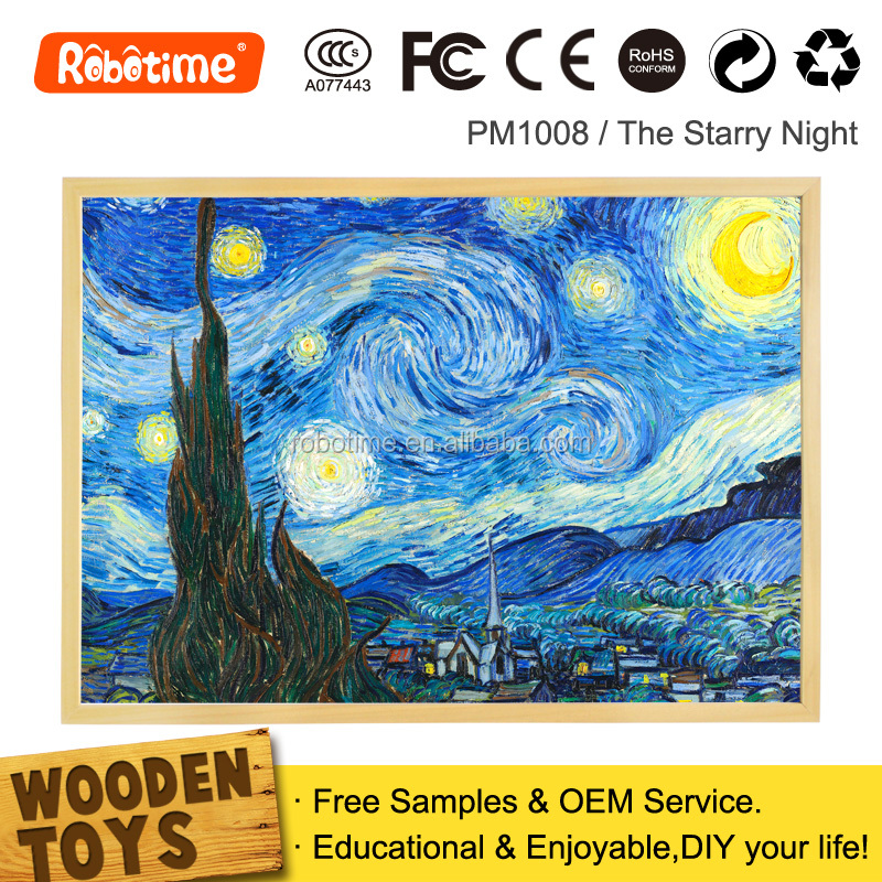 robotime 2015 new product wooden jigsaw puzzles for adults