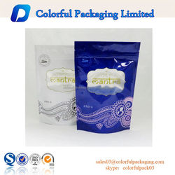 Aluminum foil Plain bag with zipper/Without printing bag with zipper