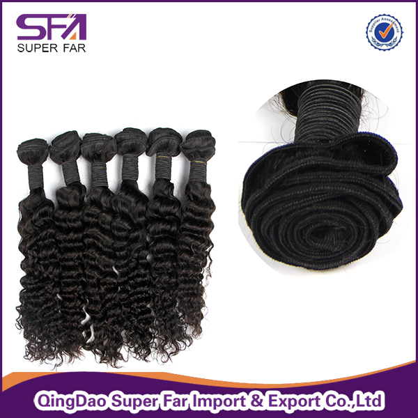 Grade 7a Virgin Brazilian Deep Wave Hair Bundles 100% Human Hair Weaving