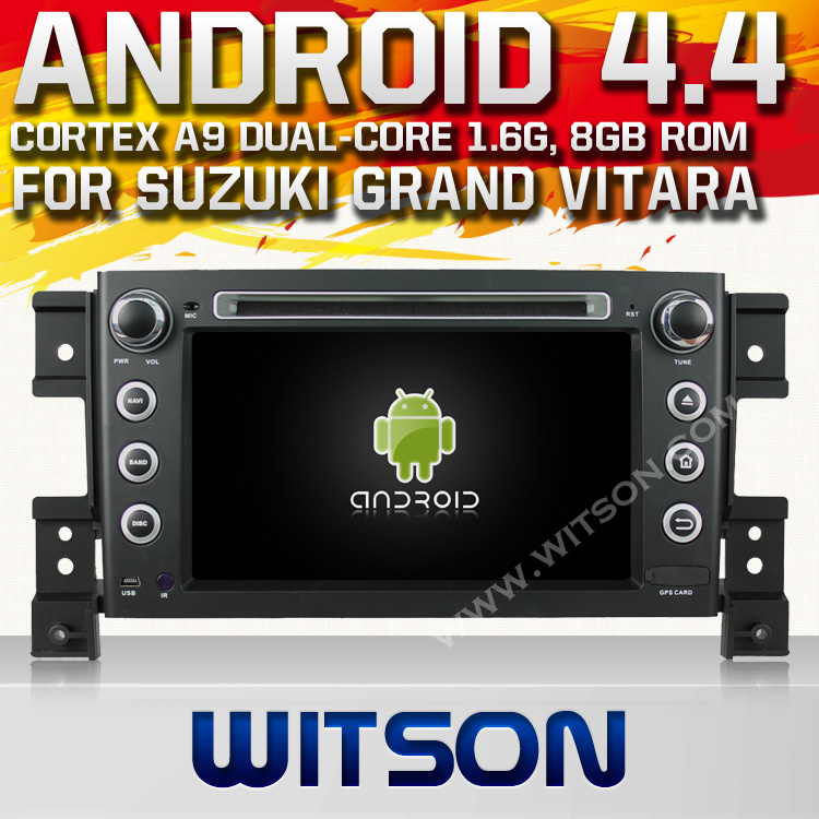 WITSON ANDROID 4.4 FOR SUZUKI GRAND VITARA CAR DVD GPS PLAYER WITH 1.6GHZ FREQUENCY DVR SUPPORT WIFI STEERING WHEEL SUPPORT