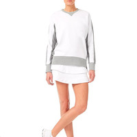 Exercise womens o neck tennis non hooded sweatshirts