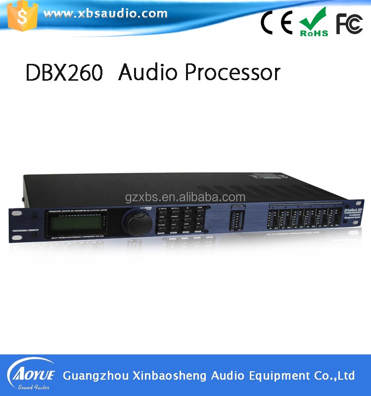 High quality 2 In 6 Out digital sound processor DBX260