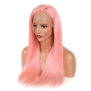 chison hair peruvian pink china factory human hair full lace sew in wig