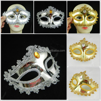 lace princess eyeliner gold silver plating mask performing props manufacturers wholesale