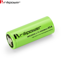 High capacity 4500mah 3.7v li-ion rechargeable battery Brillipower 26650 80A battery 26650 batteries