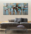 Handmade modern abstract wall art oil painting on canvas