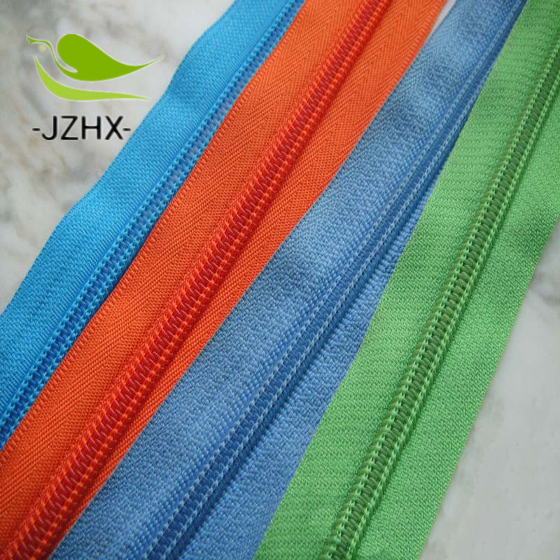 Nylon Zipper Open End Plastic Bottom Stop 5# Zippers