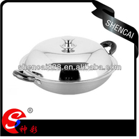 Hot selling Aluminum Alloy kitchen round non-stick pan /frying head pan / wok pan