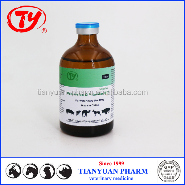 Nutritional Drugs Butafosfan & Vitamin B12 Injection for animals