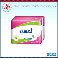 Ultra thin sanitary pads with wings