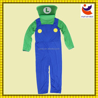 Disney authorized factory sales eco-friendly material mario and luigi costume women