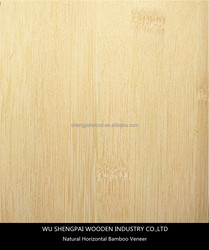 laminated horizontal bamboo wood veneer for decorative wall longboard skateboards laminated face skins sheets