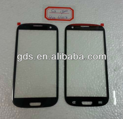 Mobile phone lens for samsung Galaxy s3 i9300 Glass (red,pink,white,blue,black)