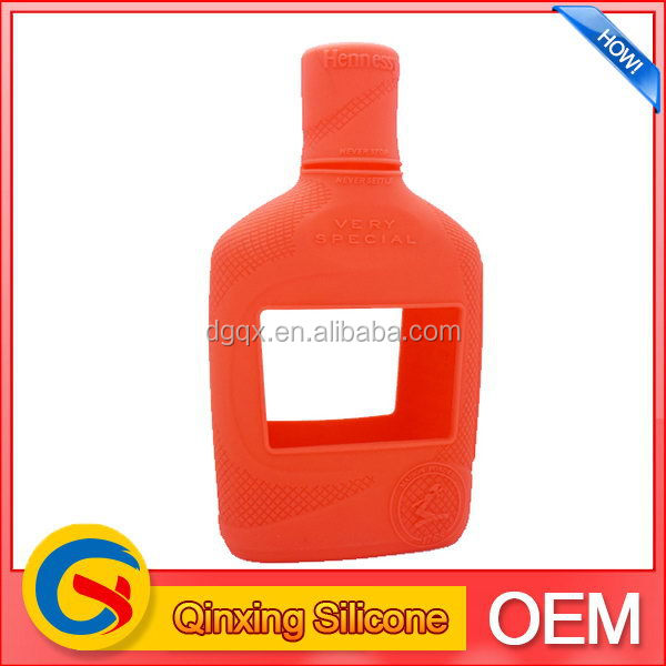 Designer promotional silicone wine glasses