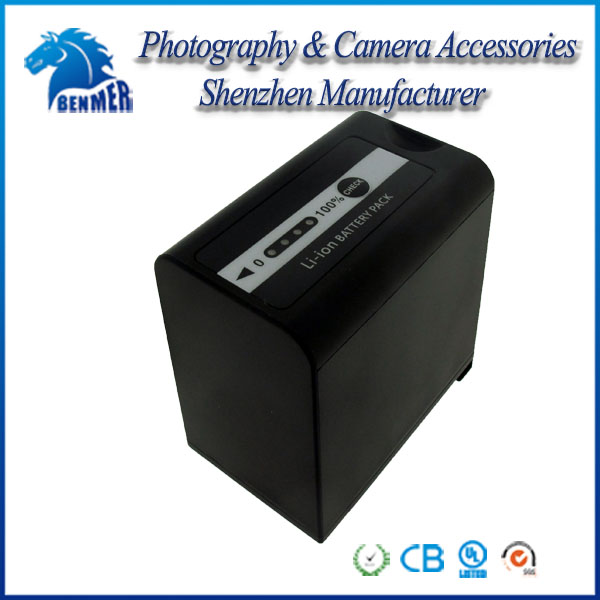 Professional camcorder battery VBD78 for Panasonic VW-VBD58, VW-VBD78 and Pana AG-3DA1, AG-AC8, AG-DVC30