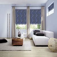 Living room roller blinds fabric manual fireproof sunscreen