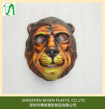Customized vacuum formed 3d animal face masks for kids party