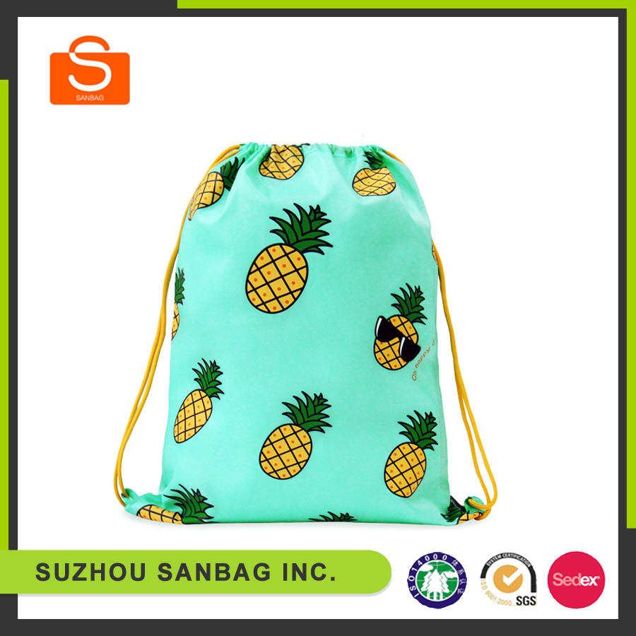 fashion eco friendly updated black non woven drawstring bag