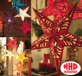 Origami decoration LED paper lantern star shape ceiling lamp