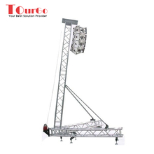 TourGo Aluminum Line Array Speaker Truss Tower Lift , Line Array Speaker Tower Truss Design