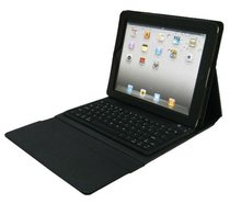 high quality and hot sales wireless bluetooth keyboard leather cover stand case for new ipad 3 & 2