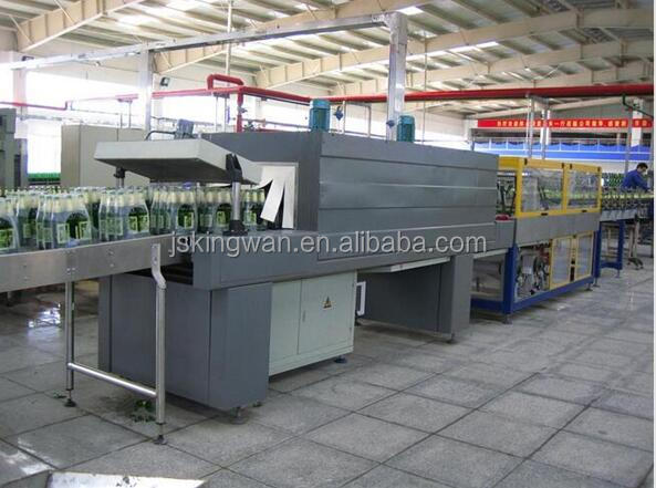 Good performance plastic bottle heat tunnel shrink film wrapping package machine