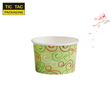 color printed disposable fruit salad soup cup lunch paper bowl for take away