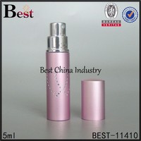 5ml pink lady perfume refill atomizer, aluminium spray perfume bottle