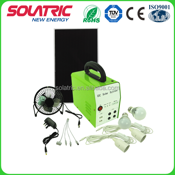 10W high efficiency solar power home lighting system