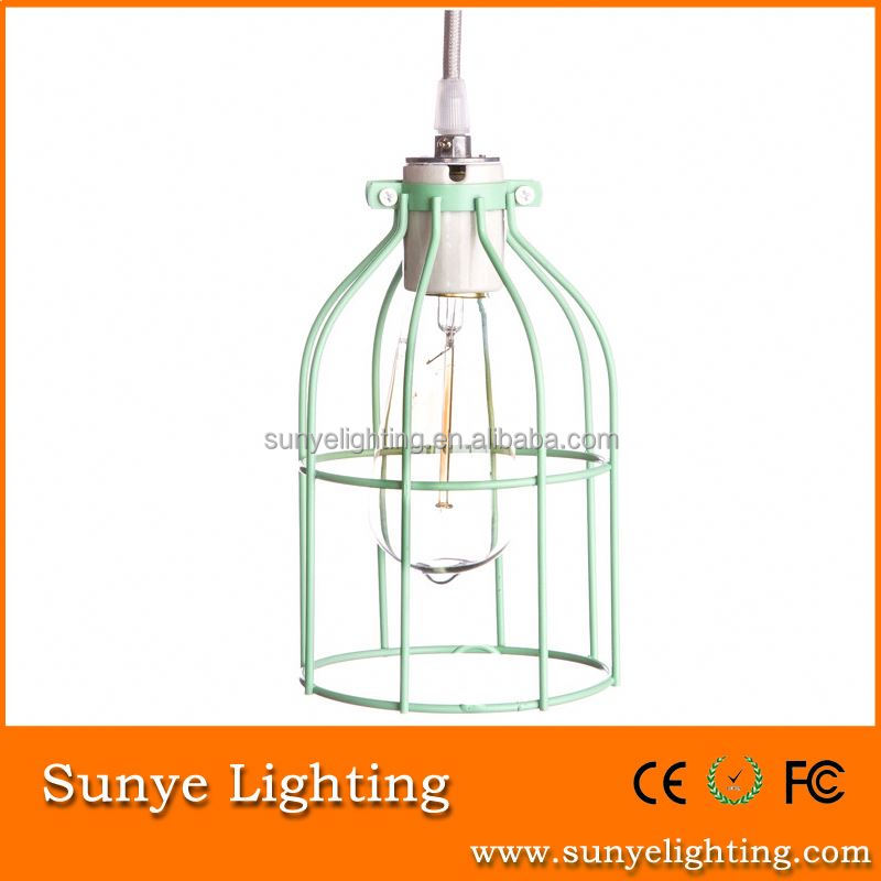 Vintage Iron Cage Edison bulb cage for mosque chandelier