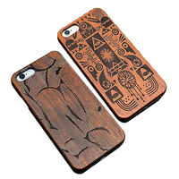 Real wood painted 3D carve pattern case for iphone 5 6 plus 7 plus, embossed bamboo back cover for samsung c5 c7 j7 phone case