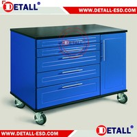 China high quality 430 steel garage storage workbench with cabinet