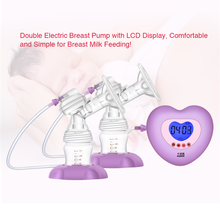 Double electric breast pump, double breast pumps milk suckers large auto suction and massage