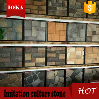 Wall decorative plastic model lowest price wall artificial slate stone