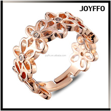 fashion copper plating finger ring exquisite connected plum hollow ring