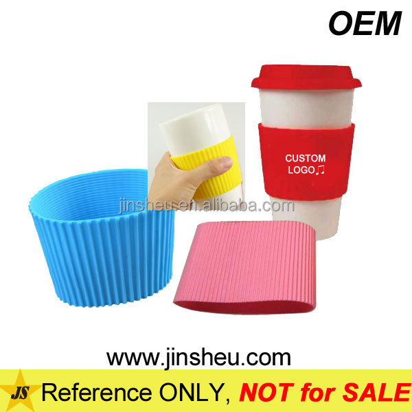 Hot Sale Cheap Logo Printed Custom Rubber Silicone Coffee Cup Sleeve