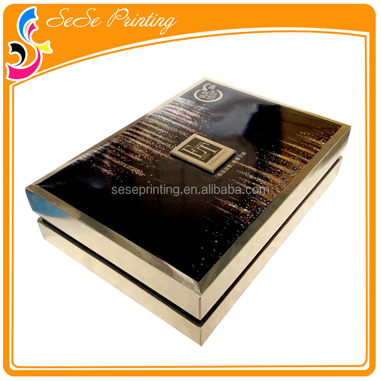 Cheap Custom Colorful Printed Silver Metallic Paper Cosmetic Packaging Box