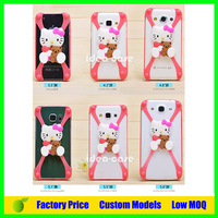 Creative new design shockproof universal Cartoon Silicon bumper case frame phone case