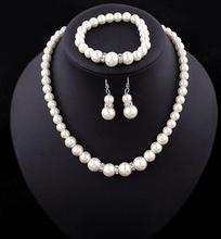 zm33251a classic bridal wedding accessories new model pearl jewelry necklace set