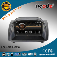 ugode two din touch screen Ford Fiesta GPS with DVD GPS radio bluetooth IPOD USB SD car multimedia player