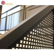 Perforated metal mesh fence for balcony