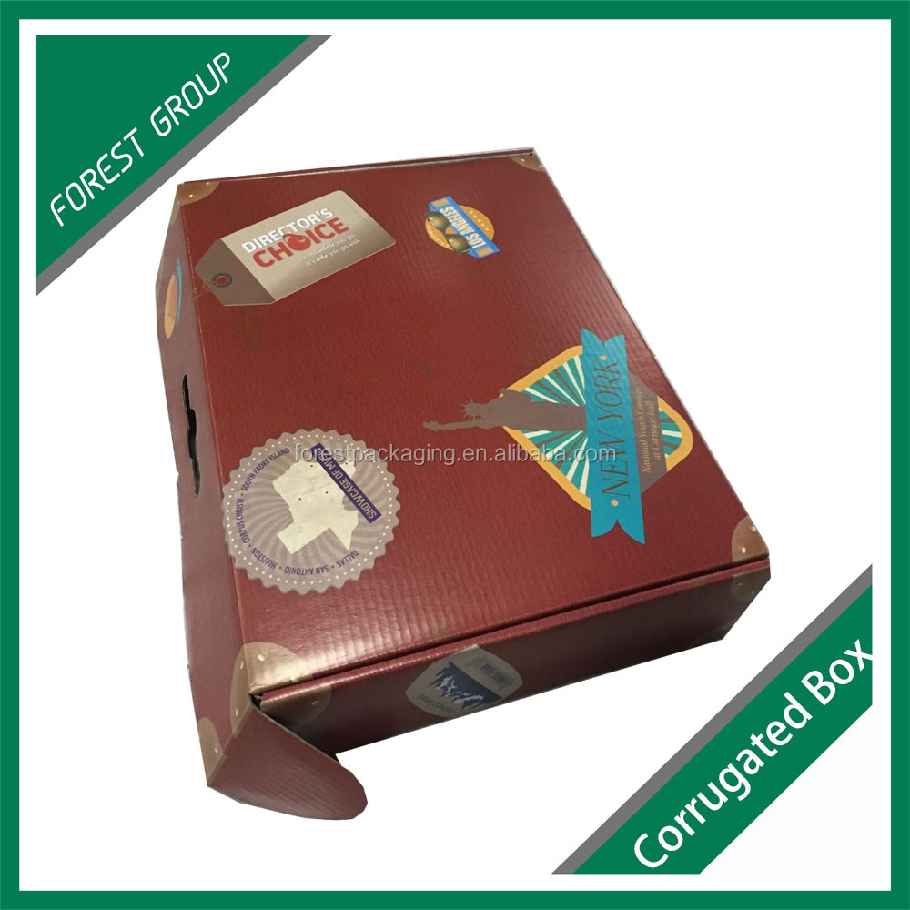 Custom portable folding tuck top corrugated box